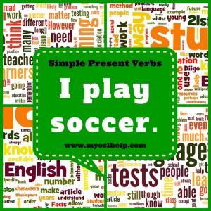 Simple present verb exercises.